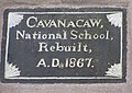 Plaque, Cavanacaw National School - geograph.org.uk - 1050255.jpg