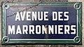 Plaque Avenue Marronniers - Le Pré-Saint-Gervais (FR93) - 2021-04-28 - 1.jpg