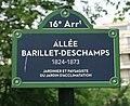 Plaque allée Barillet-Deschamps, jardin d'acclimatation, Paris 16e.jpg