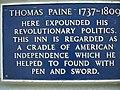 Plaque commemorating Thomas Paine - geograph.org.uk - 1264270.jpg