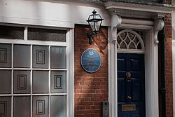 Photo of Max Aitken and Beaverbrook Foundation blue plaque