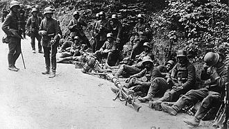 Battle of Caporetto - German assault troops at Caporetto.