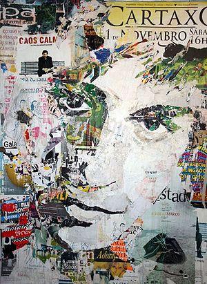 Pola Brändle - Emil Portrait, Collage/decollage, 2012, 250 x 180 cm