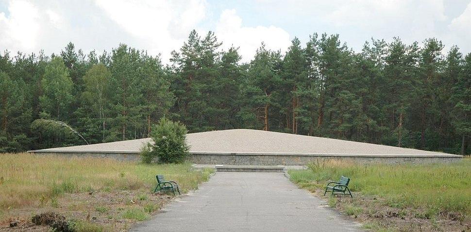 Poland Sobibor - death camp mausoleum.jpg