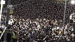 Police deployment in Meron at rabbi Shimon Bar Yochai Yom Hillula, April 2021. A V.jpg