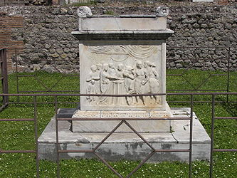 Pompeii Temple of Vespasian altar closeup.jpg