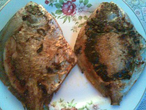 Goan cuisine - Image: Pompret fried fish