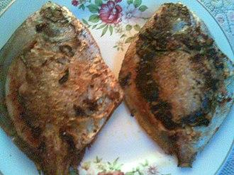 Goan cuisine - Image: Pompret fried fish