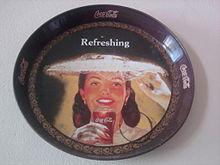 Vecchio portabevande prodotto dalla Coca-Cola
