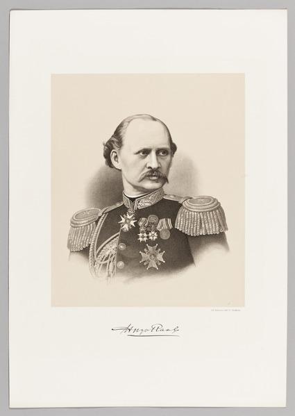 File:Porträtt av generalmajor Klas Fredrik Hugo Raab (1831-1881), 1881 - Skoklosters slott - 99501.tif