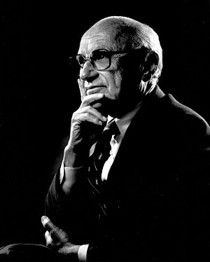 Portrait of Milton Friedman