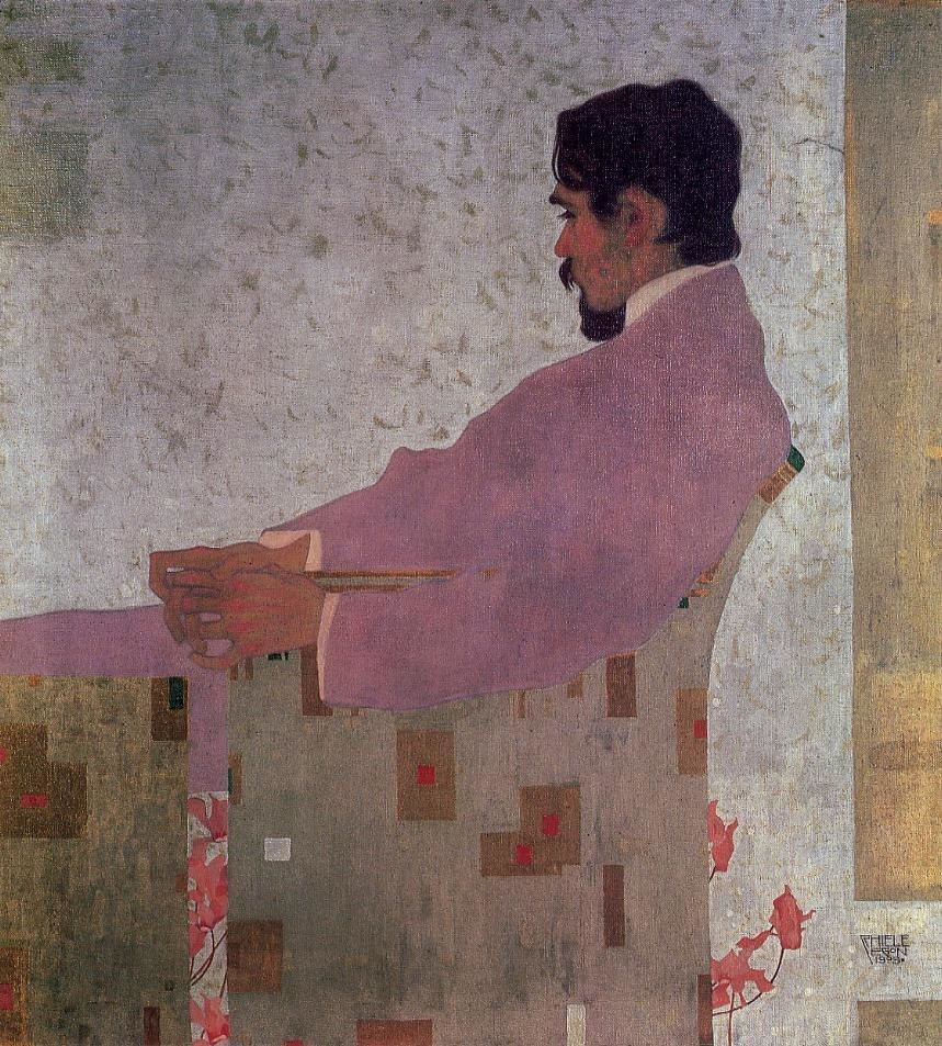 Portrait of painter Anton Peschka by Egon Schiele