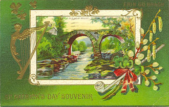 Saint Patrick's Day in the United States - Postcard postmarked 1912 in the United States