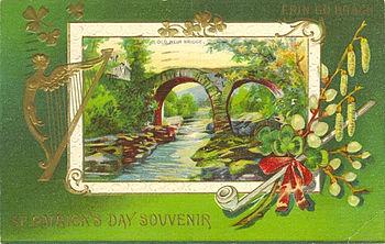"""English: Postcard: """"St. Patrick's Day Sou..."""
