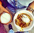 Potato chaat and sweet yoghurt.jpg