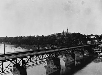 Aqueduct Bridge (Potomac River) - Second Aqueduct Bridge, some time between 1924 and 1933.