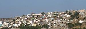 Lem Ferreira - Colorful houses of Lem Ferreira west of Achada Grande