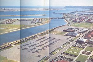 Naval Training Center San Diego - Preble Field, the marching grinder at NTC San Diego as seen in July 1961