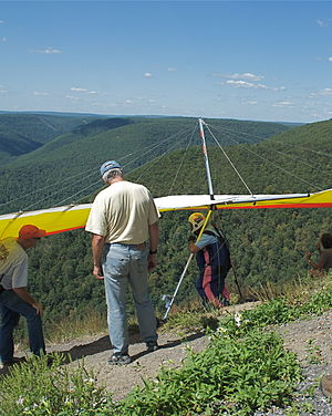 Hyner View State Park - Preparing for takeoff from Hyner State Park