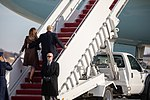 President Donald J. Trump and First Lady Melania Trump Depart for Argentina (32234683268).jpg
