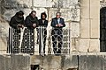 President George W. Bush and Secretary of State Condoleezza Rice stand amidst the ruins of Capernaum.jpg