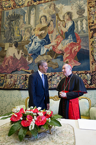 Pietro Parolin - Obama meets Cardinal Parolin, 27 March 2014