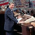President Reagan giving his acceptance speech at the Republican National Convention in Dallas Texas (cropped1).jpg