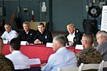President meets leaders of storm-ravaged North Carolina at MCAS Cherry Point 180919-Z-DZ751-486 (44838208575).jpg