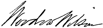 English: Signature of U.S. President Woodrow W...