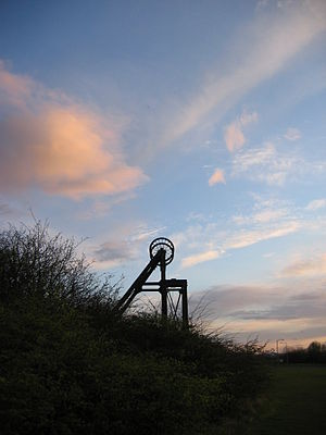Prestongrange Industrial Heritage Museum - The colliery winding gear