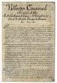 Prima pagina delle Regie Patenti del 13 luglio 1814 istitutive del Corpo dei Carabinieri Reali - Museo Storico dell'Arma dei Carabinieri.jpg