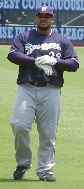 Prince Fielder - Fielder with the Milwaukee Brewers in 2008