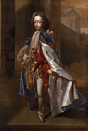 Prince William, Duke of Gloucester - Portrait by Edmund Lilly of Prince William in the azure mantle of the Order of the Garter, c. 1698