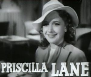 Cowboy from Brooklyn - Priscilla Lane, the youngest of the Lane Sisters, in the trailer for Cowboy from Brooklyn (1938).