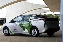 First Commercial Flex Fuel Hybrid Electric Car Tested With A Toyota Prius As Development Mule