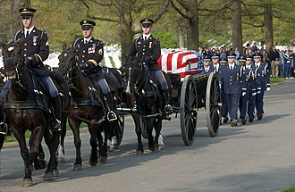 Idaho Air National Guard - Image: Procession of Major Gregory L. Stone at Arlington National Cemetery