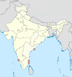 Puducherry in India (disputed hatched).svg