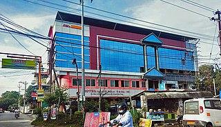 Puthunagaram Town in Kerala, India