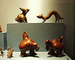Puebla - Museo Amparo - Bestioles symboliques Colima 200 dC.JPG