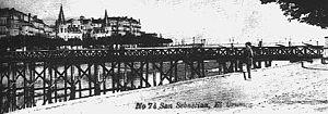 María Cristina Bridge - María Cristina Bridge in 1893.
