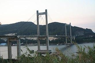 Autopista AP-9 - Image: Puente de Rande Atardecer