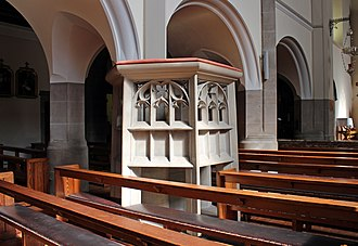 Church of St Clare, Liverpool - Image: Pulpit of St Clare's RC church, Liverpool