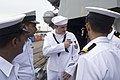 Quartermaster 1st Class Randall Arnold gives a tour of the Arleigh Burke-class guided-missile destroyer USS Howard (DDG 83) to sailors from the Indian Navy.jpg