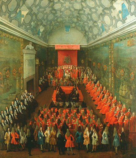 Queen Anne addressing the House of Lords, c. 1708-14, by Peter Tillemans Queen Anne in the House of Lords by Peter Tillemans.jpeg