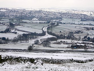Bradford Dale (Yorkshire) - Image: Queensbury Triangle, in the snow (2238272861)