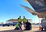 RAAF personnel performing routine maintenance on an F-35 at Luke AFB in November 2018.jpg