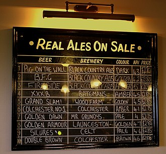 Cask ale - Tavern, Wolverhampton