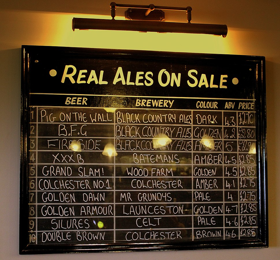 REAL ALE LIST AT THE LYCH GATE TAVERN WOLVERHAMTON JUNE 2013 (9056783020)