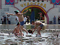 RIAN archive 117198 Bathing in fountains on Day of Border Guards.jpg