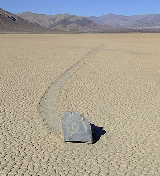 Dry lake - Sailing stone in Racetrack Playa